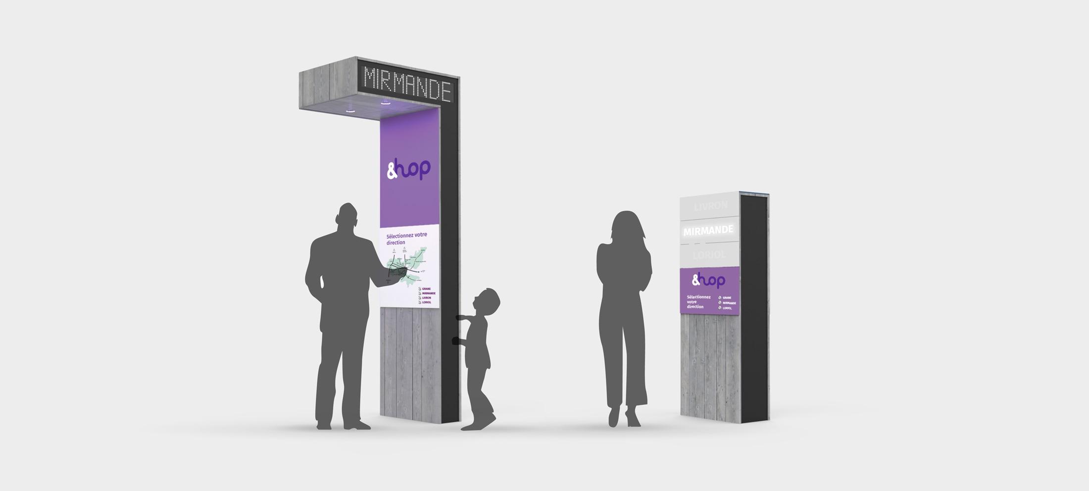 Station de mobilité - rendu 3D