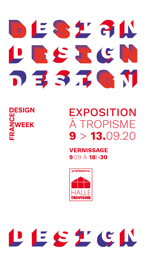 Exposition à Tropisme des designers de la Halle